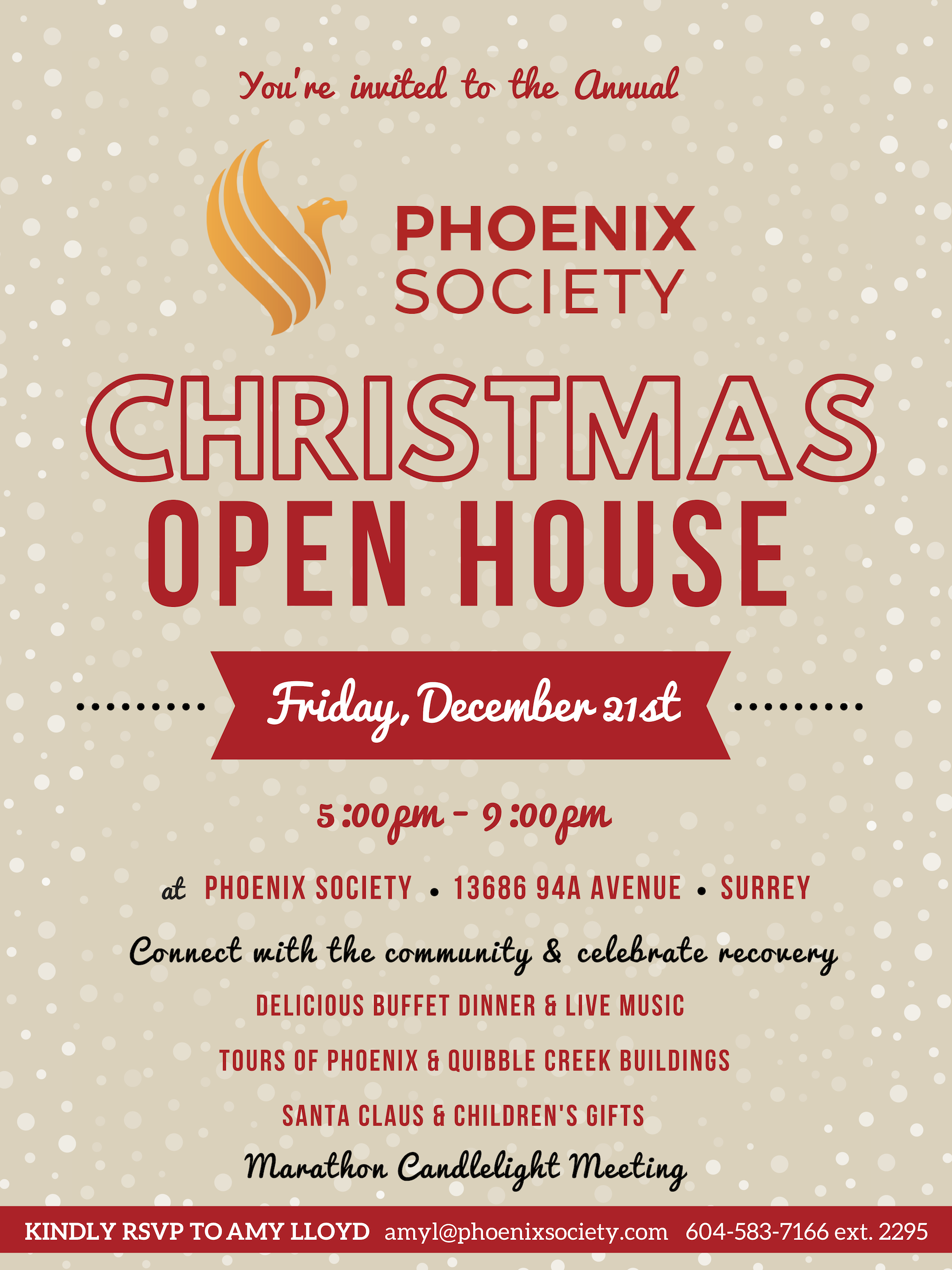 Christmas Open House.Phoenix Annual Christmas Open House 2018 The Phoenix Society